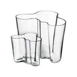 IITTALA AALTO váza készlet 160+95 mm, átlátszó